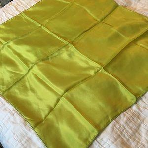 Vintage Green Silk Square Scarf
